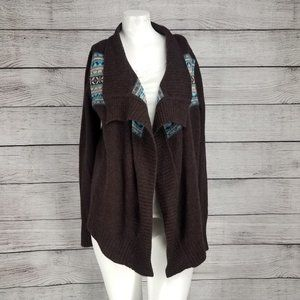 c. cashmere M Two-ply Open front Cardigan Sweater